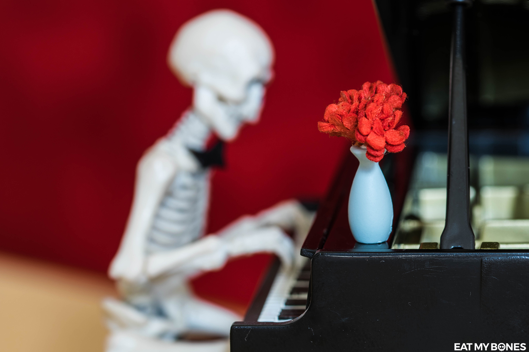 Romantic evening - Pose Skeleton - Toy photography - Miniature - Eat my Bones
