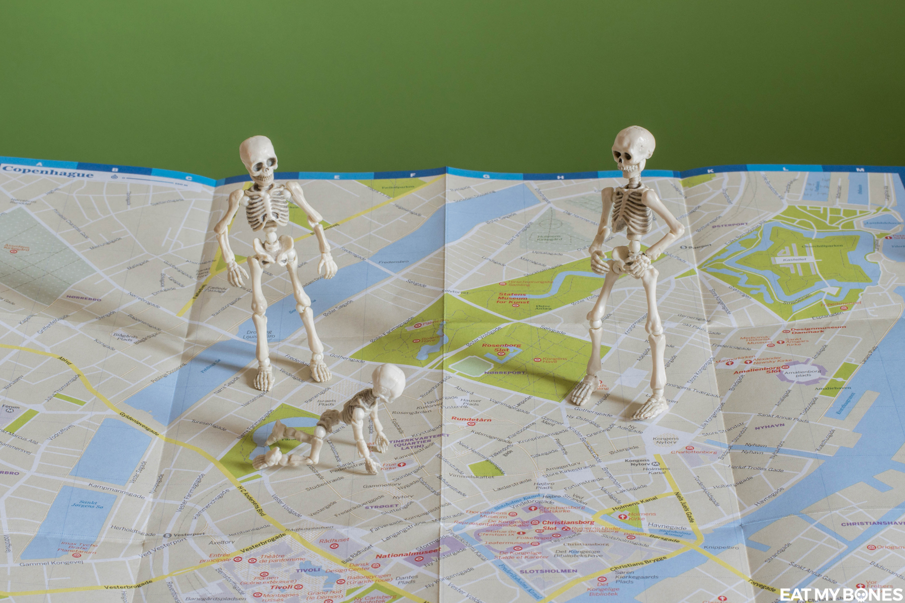 Surprise! A weekend in Copenhagen - Pose Skeleton - Toy photography - Miniature - Eat my Bones