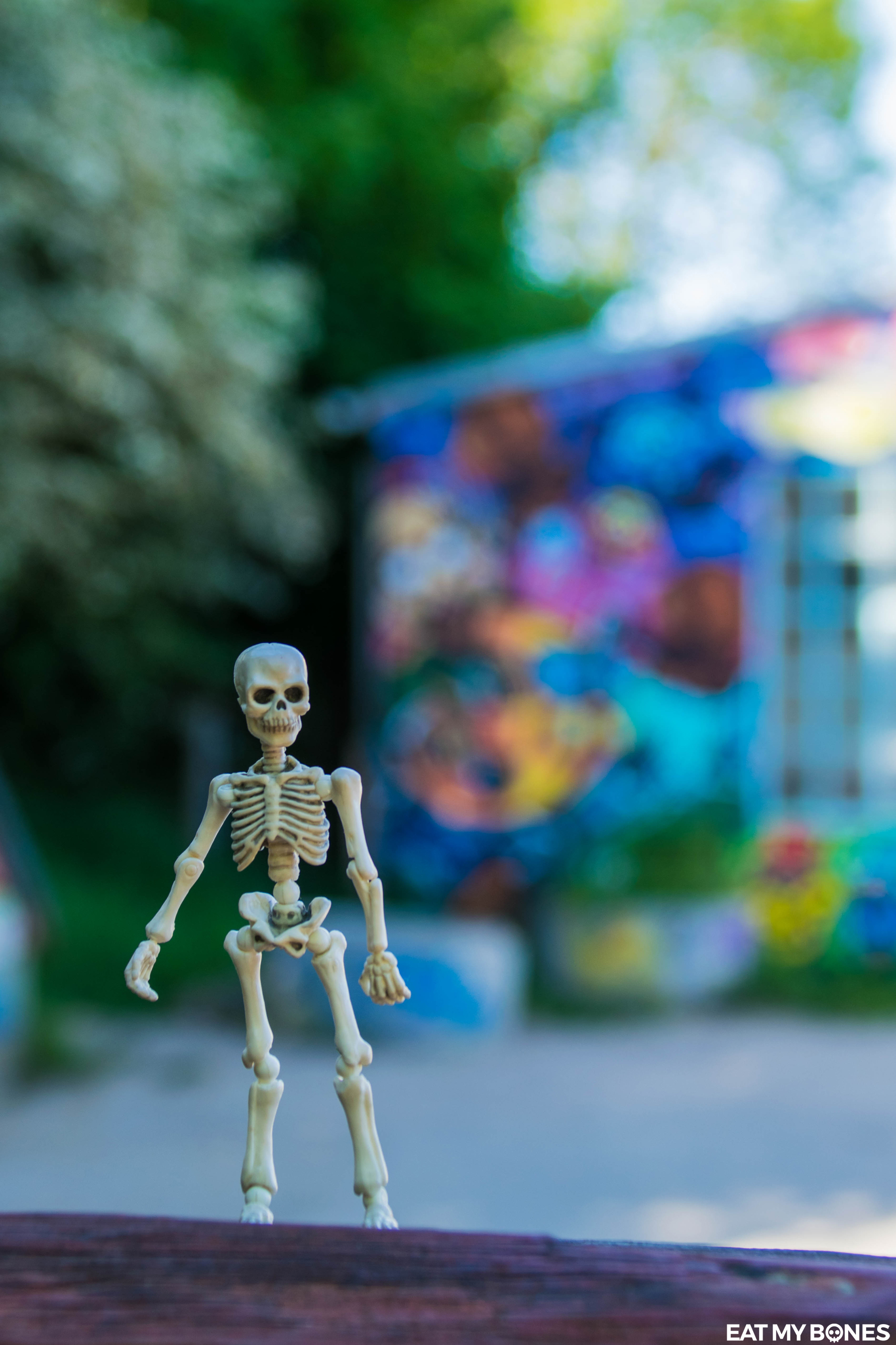 Christiania Copenhagen - Pose Skeleton - Toy photography - Miniature - Eat my Bones