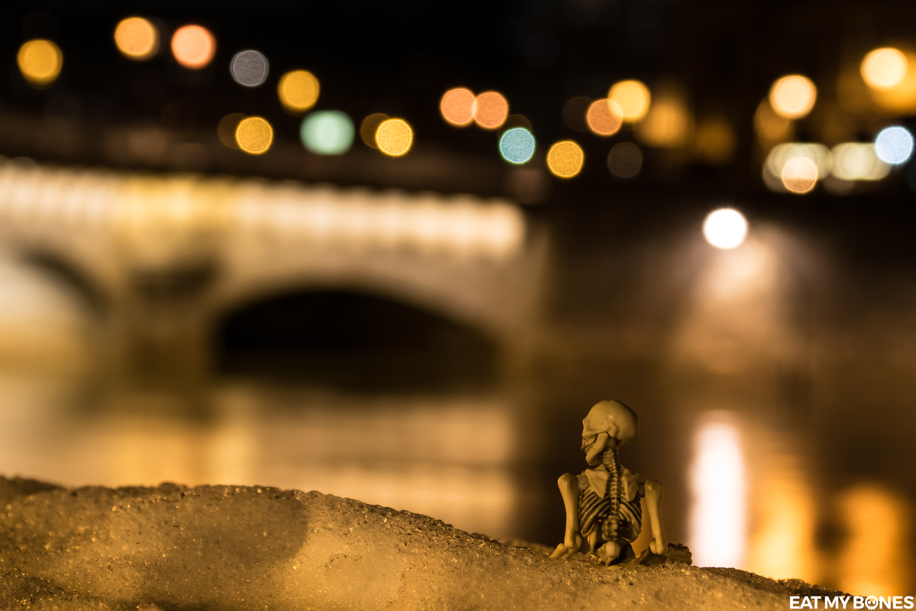 Paris at night - Pose Skeleton - Toy photography - Miniature - Eat my Bones-1