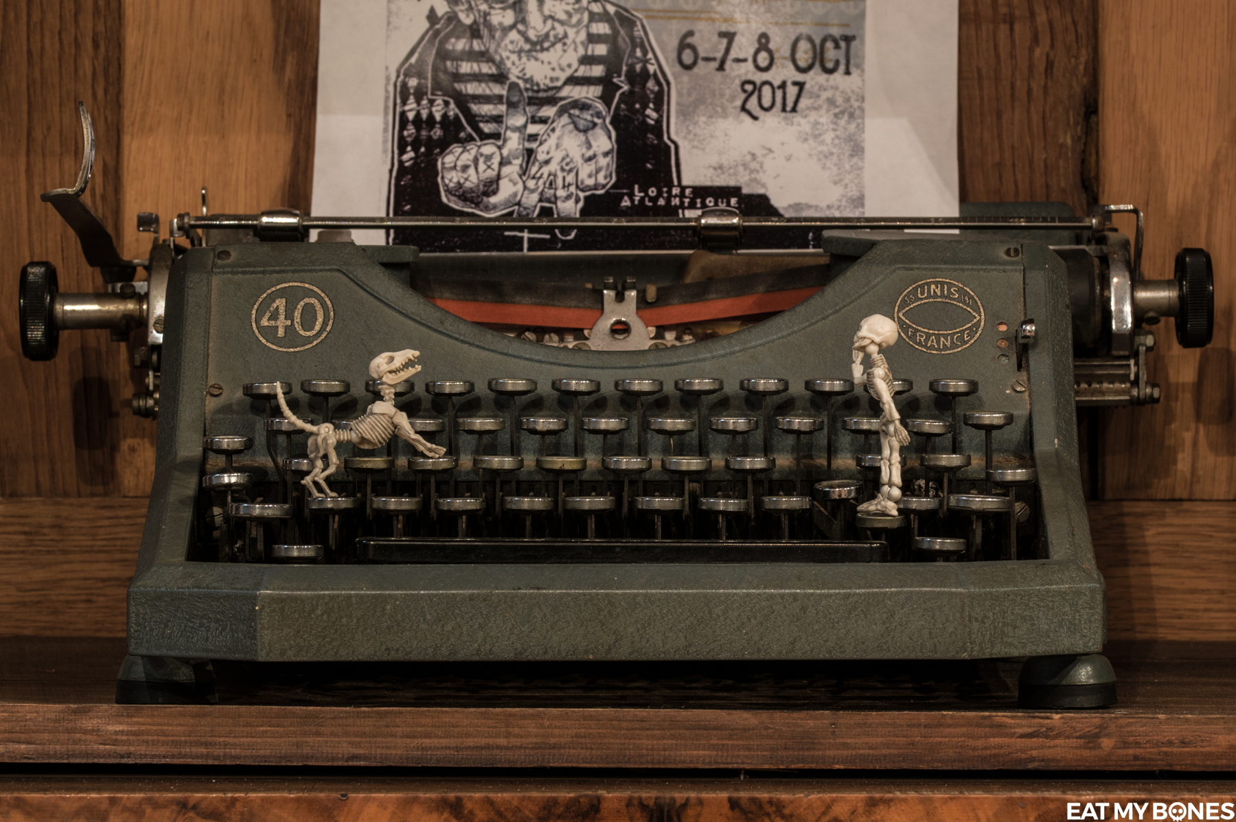 An old typewriter…
